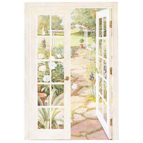 Portfolio II French Doors Into Garden Wall Mural