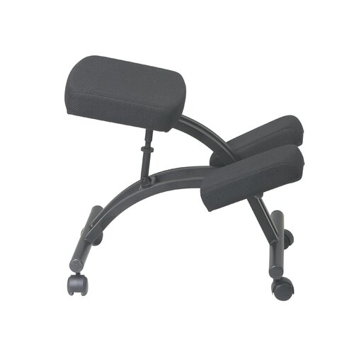 Office Star Products Ergonomic Kneeling Chair with Dual Wheel Casters