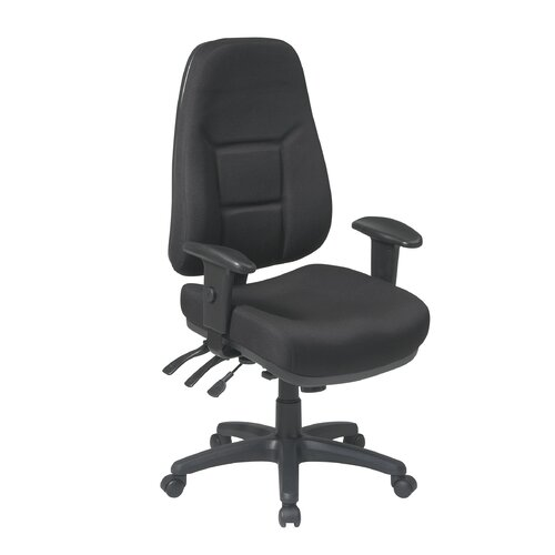 Office Star Products Worksmart High-Back Office Chair with 2-Way Adjustable Arms