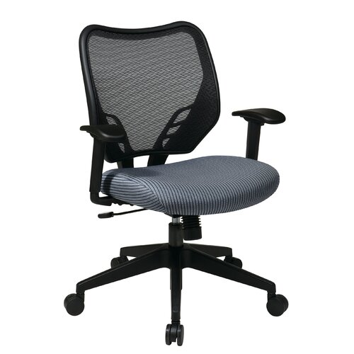 Office Star Products Space Mid-Back Managerial Chair with VeraFlex Seat and Dark AirGrid