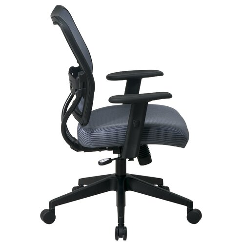 Office Star Products Space Mid-Back Veraflex Deluxe Office Chair with Adjustable Arms
