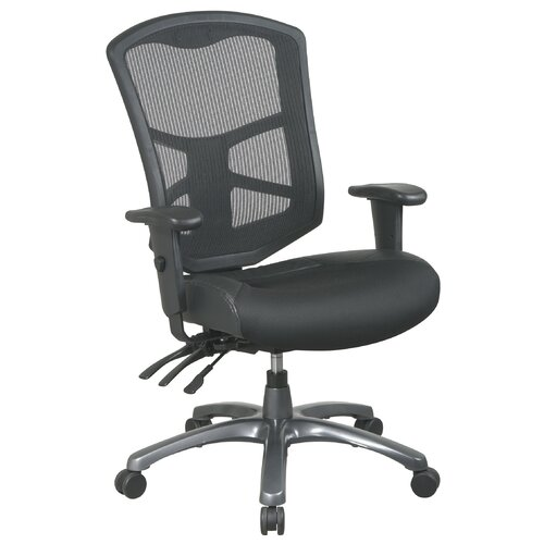 Office Star Products ProLine II High-Back Leather / Mesh Office Chair