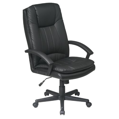 Office Star Products High-Back Leather Deluxe Executive Chair