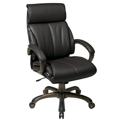 "Office Star Products 25.25"" Back Leather Executive Chair"