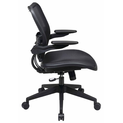 Office Star Products Air Grid Seat and Back Space Seating Deluxe Office Chair with Cantilever Arms