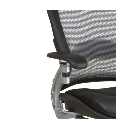 Office Star Products SPACE Air Grid Back Leather Visitors Chair