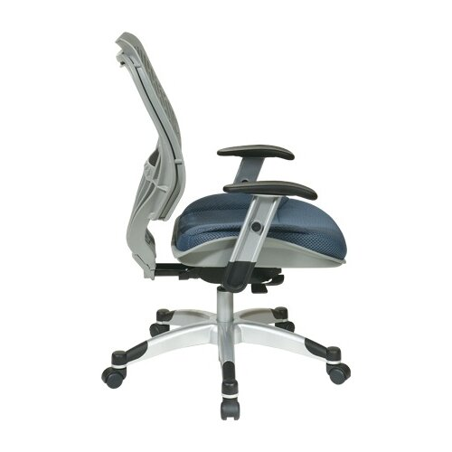 Office Star Products SPACE REVV Ice SpaceFlex Back Chair and Shadow Mesh Seat