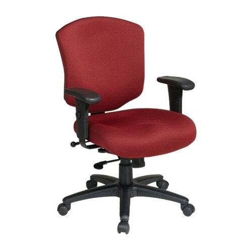 Office Star Products Work Smart Mid-Back Executive Chair with Arms