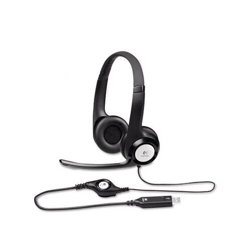 Logitech, Inc H390 Usb Headset with Noise-Canceling Headphones