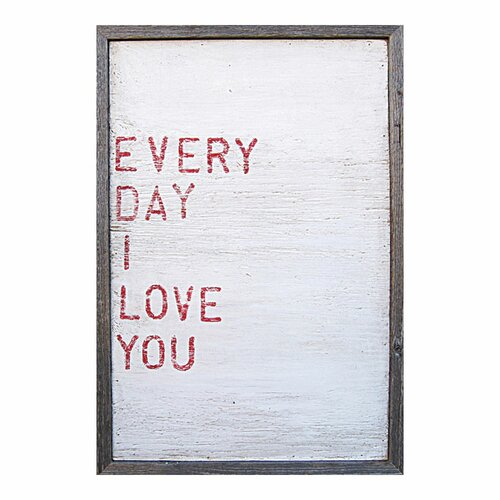 Sugarboo Designs Everyday I Love You Framed Painting Print