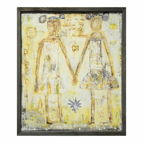 Girls/Sisters Framed Painting Print