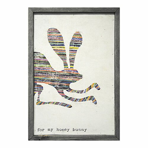 For My Honey Bunny Framed Painting Print