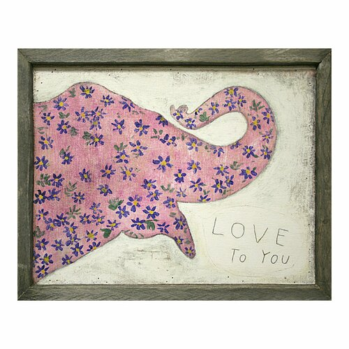 Sugarboo Designs Elephant Framed Painting Print