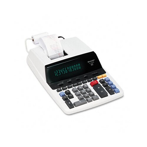 Sharp EL-2630PIII Desktop Calculator, 12-Digit Fluorescent, Two-Color Printing