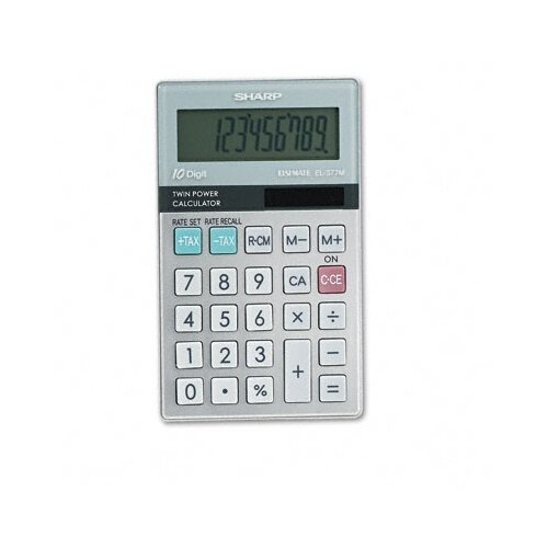 Sharp EL-377TB Business/Handheld Calculator, 10-Digit LCD
