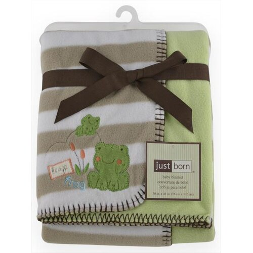 Just Born® 2 Ply Frog Reversible Blanket