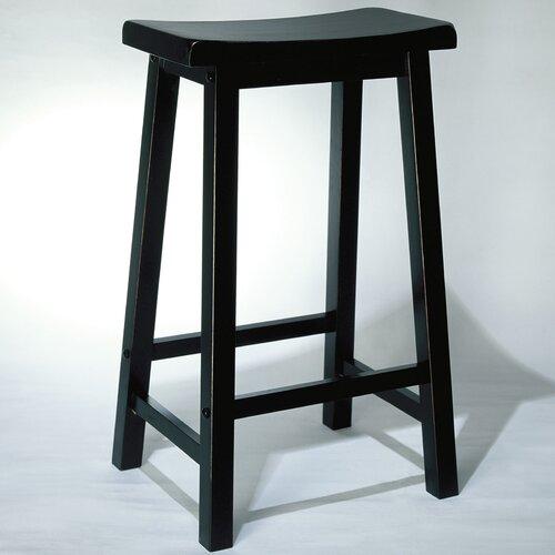 "Powell Furniture Antique Black 29"" Bar Stool"