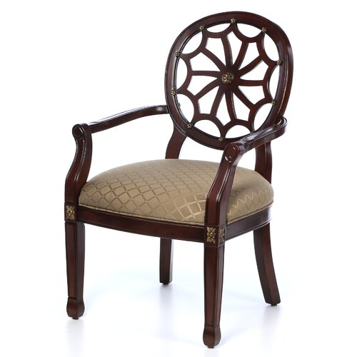 Furniture Web: Powell Classic Seating Spider Web Fabric Arm Chair