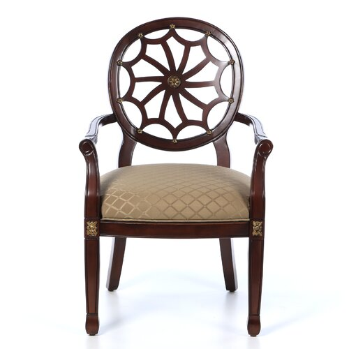 Powell Classic Seating Spider Web Fabric Arm Chair