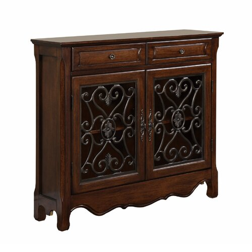 Powell Furniture 2 Door and 2 Drawer Scroll Console Table