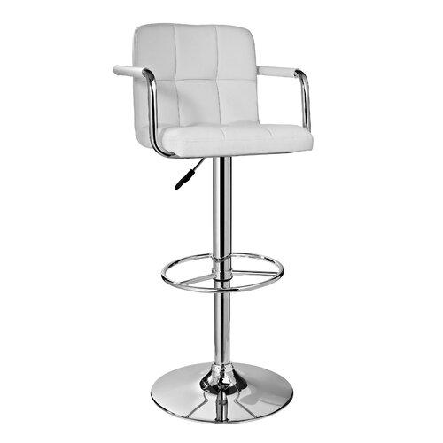 Adjustable Swivel Barstool with Cushion
