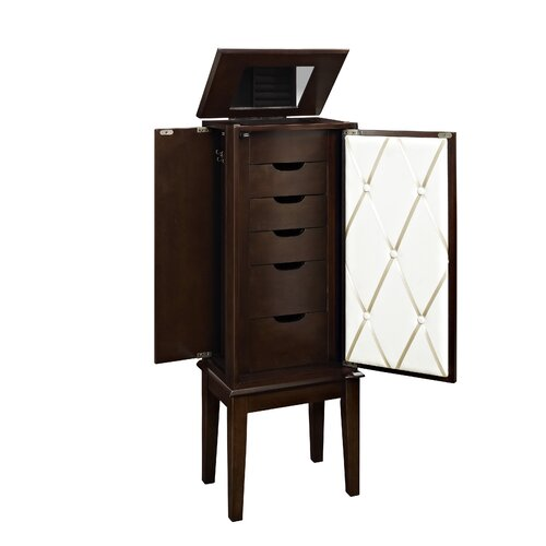 Powell Jewelry Armoire With Mirror Amp Reviews Wayfair
