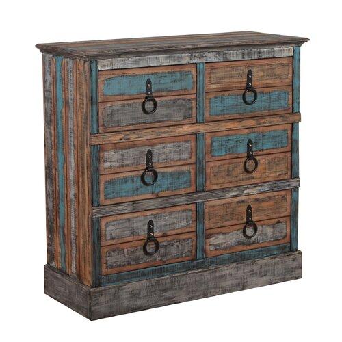 Deep drawer bedroom dressers wayfair for Bedroom 6 drawer dresser