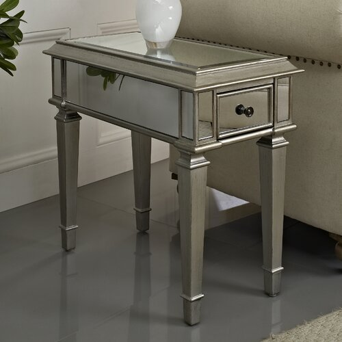 Powell Furniture Mirrored End Table