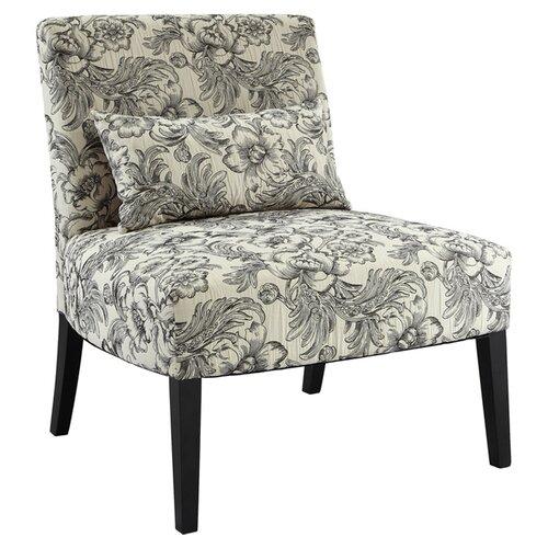 Powell Lila Floral Fabric Slipper Chair Reviews Wayfair