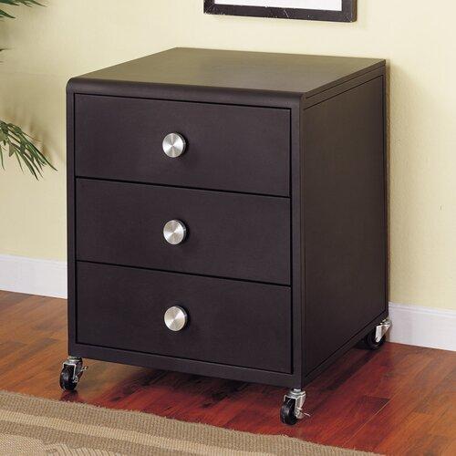 Z bedroom 3 drawer nighstand wayfair for Powell z bedroom furniture