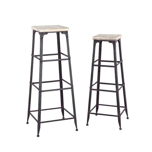 Powell Furniture Driftwood Plant Stand (2 piece set)