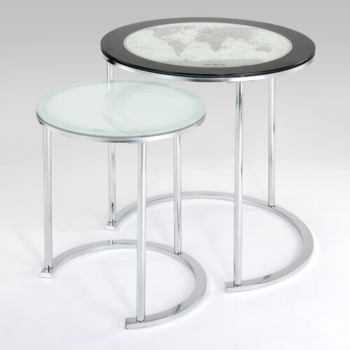 World Map 2 Piece Nesting Tables