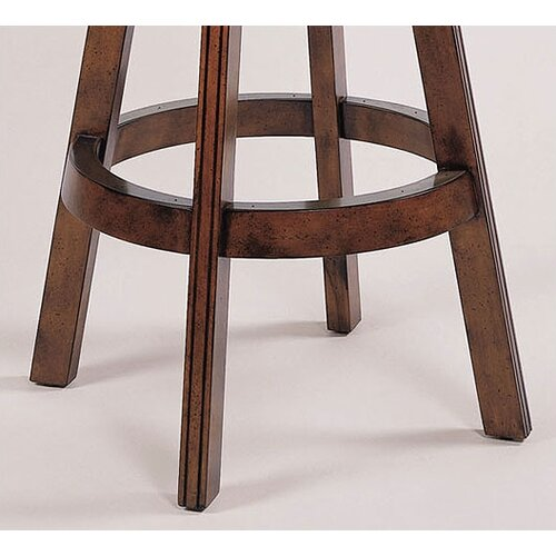 "Powell Furniture Brandon Cherry 30"" Swivel Bar Stool with Cushion"