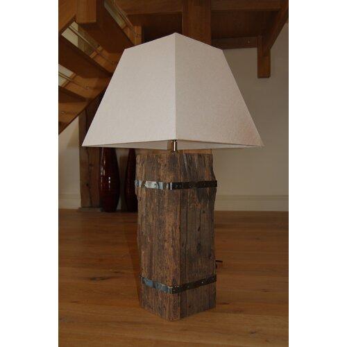 Reclaimed wood table lamp wayfair uk for Wayfair wood floor lamp