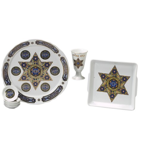 Israel Giftware Design Traditional Porcelain Seder Set