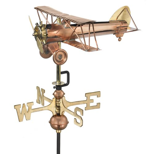 Good Directions Biplane Weathervane