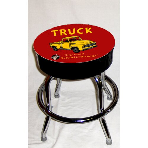 Almost There Busted Knuckle Garage Kid's Swivel Truck Stool