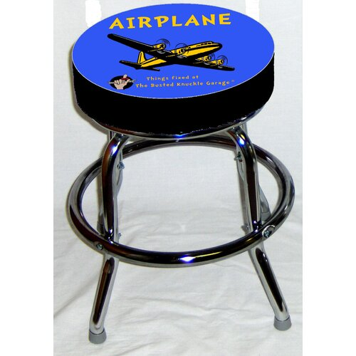 Busted Knuckle Garage Kid's Swivel Airplane Stool