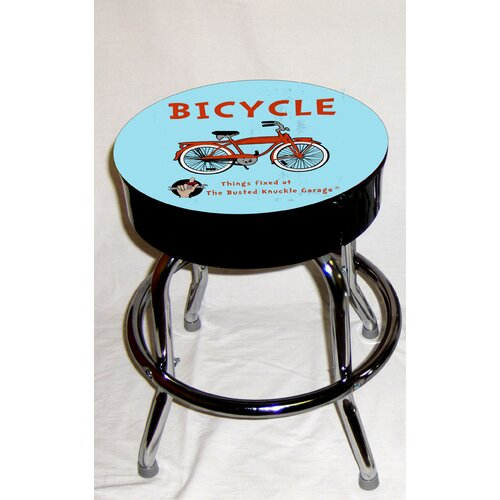 Almost There Busted Knuckle Garage Kid's Swivel Bicycle Stool