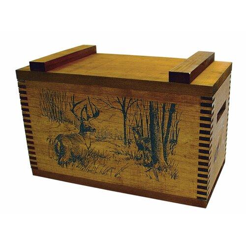 Evans Sports Standard Storage Box With Whitetail Deer Print
