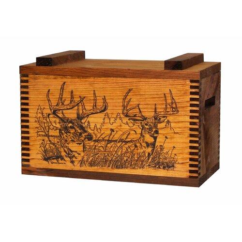 Standard Storage Box With Two Trophy Deer Print