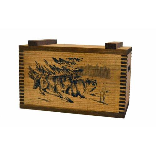 Standard Storage Box with Wolf Print