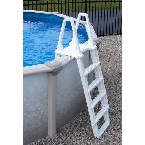 "Swim Time Oval 48"" Deep 6"" Top Rail Belize Metal Wall Swimming Pool Package"