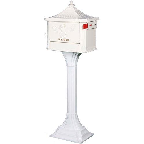 Solar Group Cast Aluminum Pedestal Mailbox
