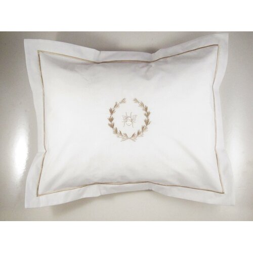 Jacaranda Living Bee Wreath Cotton Boudoir Pillow Cover
