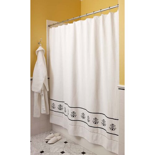 Diamond Pique Cotton Shower Curtain