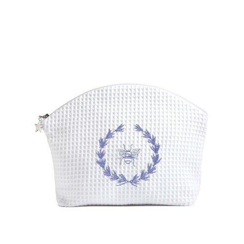 Jacaranda Living Bee Wreath Blue Cosmetic Bag