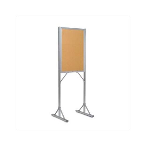 Marsh Double Pedestal Open-Face Bulletin Boards - Aluminum