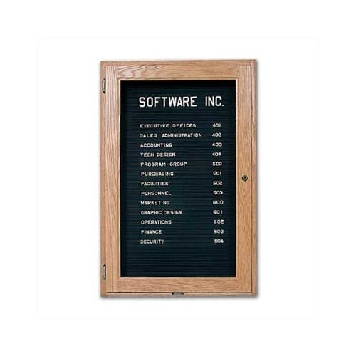 Marsh Wall-Mounted Enclosed Directory Boards - Oak