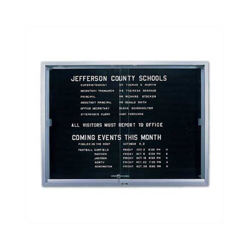 Marsh 'S' Series Sliding Glass Enclosed Directory Boards